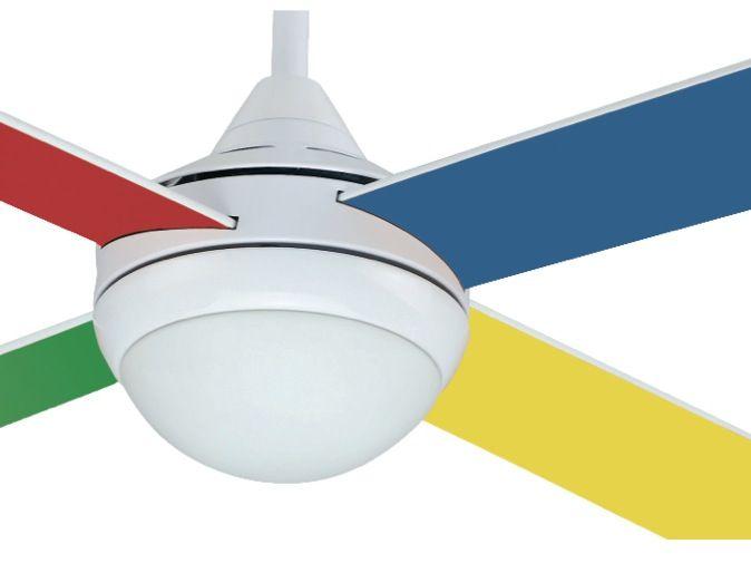 Ventilador techo de colores infantil con luz #ventiladores #decoracion #verano #climatizacion #calor #ventilacion #diseño #aire