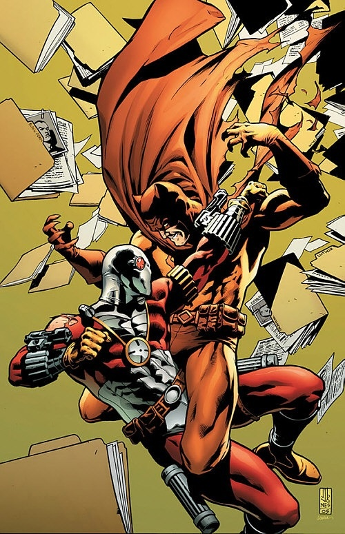 Deadshot vs. Catman in their suits