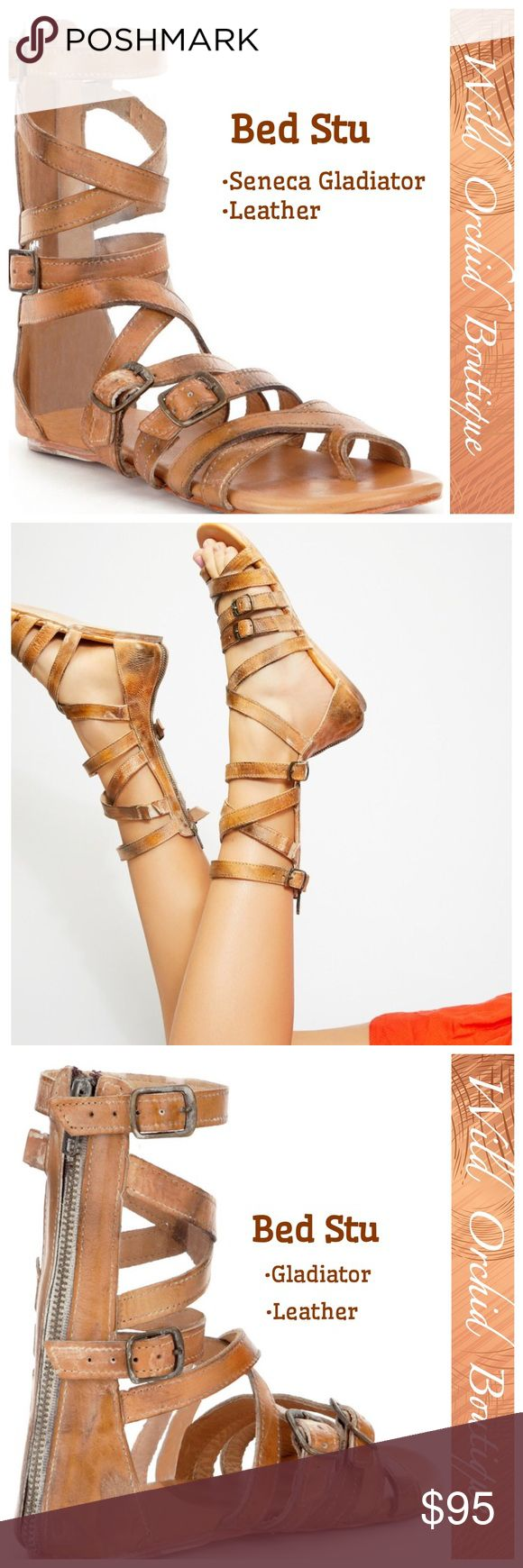 THE SENECA GLADIATOR By BED STU From Bed Stu, the Seneca women's gladiator sandals feature: •leather upper •back zipper closure •leather lining •leather sole.   •EUC Only worn couple times. Bed Stu Shoes Sandals