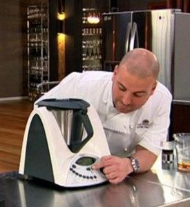 George Calombaris with the Thermomix