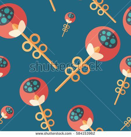 Love flowers flat icon seamless pattern. #flowerpattern #vectorpattern #patterndesign #seamlesspattern