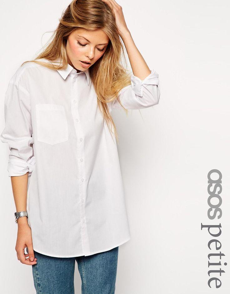 ASOS PETITE Boyfriend White Shirt