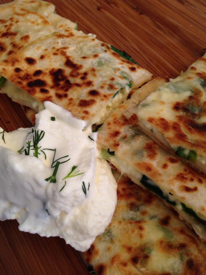 spinach and cheese gozleme by the memo group