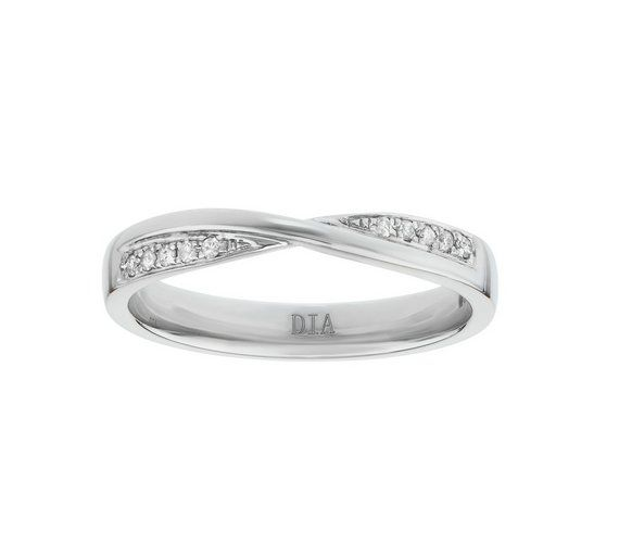 Buy 9ct White Gold 0.08ct two Diamond Crossover Wedding Ring at Argos.co.uk, visit Argos.co.uk to shop online for Ladies' wedding rings and bands, Ladies' rings, Ladies' jewellery, Jewellery and watches
