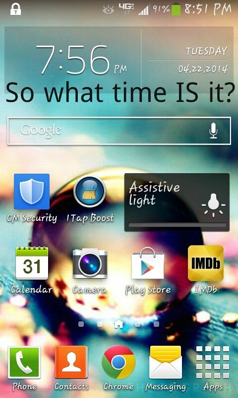 some clock widgets have to be refreshed so it would be the time in the corner :3