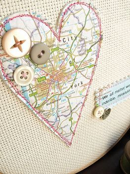 Maps & buttons both have tons of craft, packaging & decor uses.