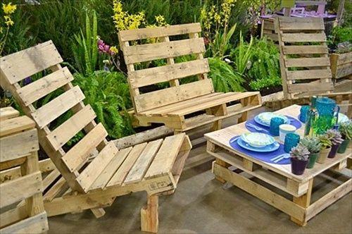 DIY Patio Furniture Ideas   DIY Pallet Furniture for Your Beautiful Garden   Pallet Furniture ...