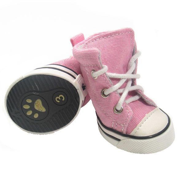 Pink Sneaker Dog Shoes