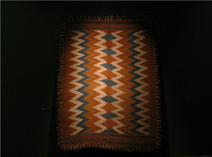 Szekler rug from Kingdom of Hungary / Transylvania.  Museum of Ethnography, Budapest, Hungary.  Women, Hand-Woven Rugs, Home Industry Exhibition 24 June 2011. - 26 August 2012.