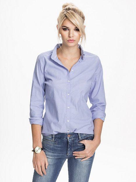 Cici L/S Oxford Shirt - Only - Blue Bell - Blusen & Hemden - Kleidung - Damen - Nelly.de Mode Online