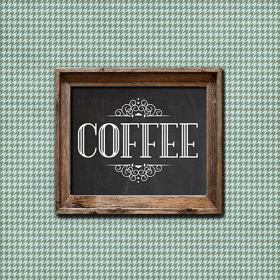 Coffee Sign Coffee Printable Coffee Coffee Print
