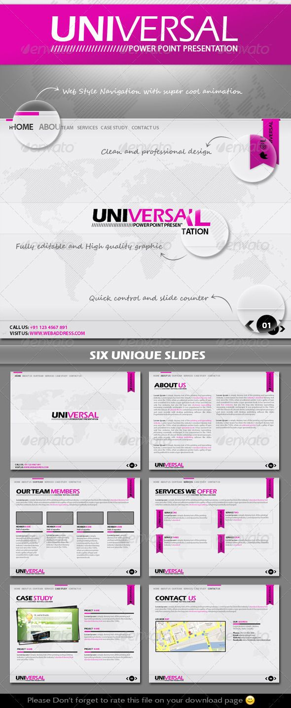 Universal Power Point Presentation Template