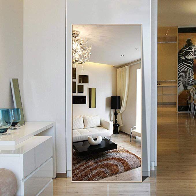 Hans Alice Rectangle Bedroom Floor Mirror Free Standing Dressing Mirror 65 X22 Full Length Floor Mirror Full Length Mirror In Bedroom Dressing Mirror