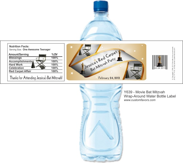 75 Best Images About Water Bottle Labels On Pinterest: 75 Best Images About Bar Mitzvah / Bat Mitzvah Ideas On