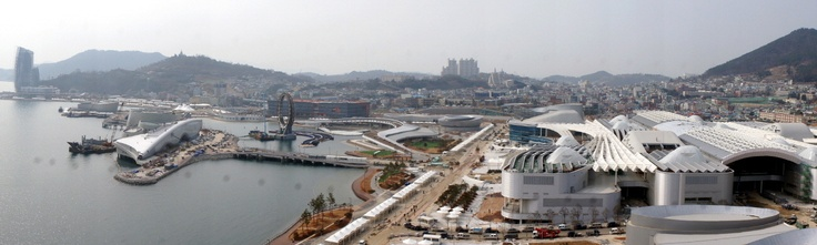 Expo 2012 Yeosu Korea    Bird's-eye View of the Expo Site