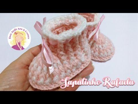 Sapatinho de crochê - saída de maternidade,  passo a passo... - YouTube