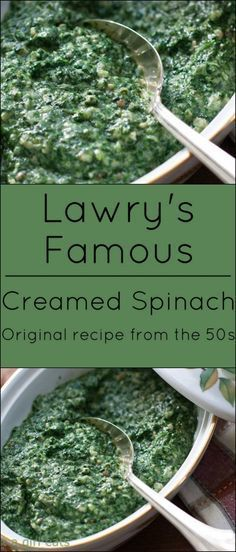 Lawry's Famous Creamed Spinach. Original recipe from the 50s.