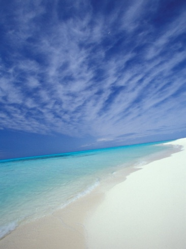 White Sands and Water, Sand Island, Midway Atoll National Wildlife Refuge, Hawaii