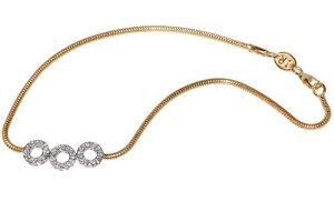 """14K Yellow Gold 10"""" Snake Anklet Bracelet, Set with Three Open Circle Stations, Enhanced with Pave Set Diamonds. IRC. $935.00. Free-Shipping. 100% Satisfaction Guaranteed. 14K Yellow Gold 10"""" Snake Anklet Bracelet, Enhanced with Pave Set Diamonds.. Free Gift-Wrapping Included. 30-Day Money Back Guarantee"""