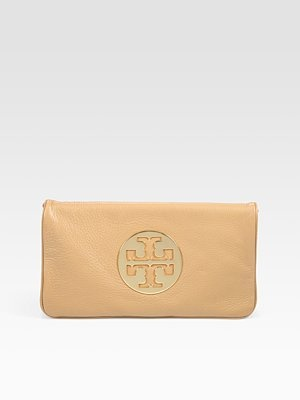 Tory Burch Reva Converible Clutch in Tan. Available at Monkee's of Morrocroft, 704-442-7337.
