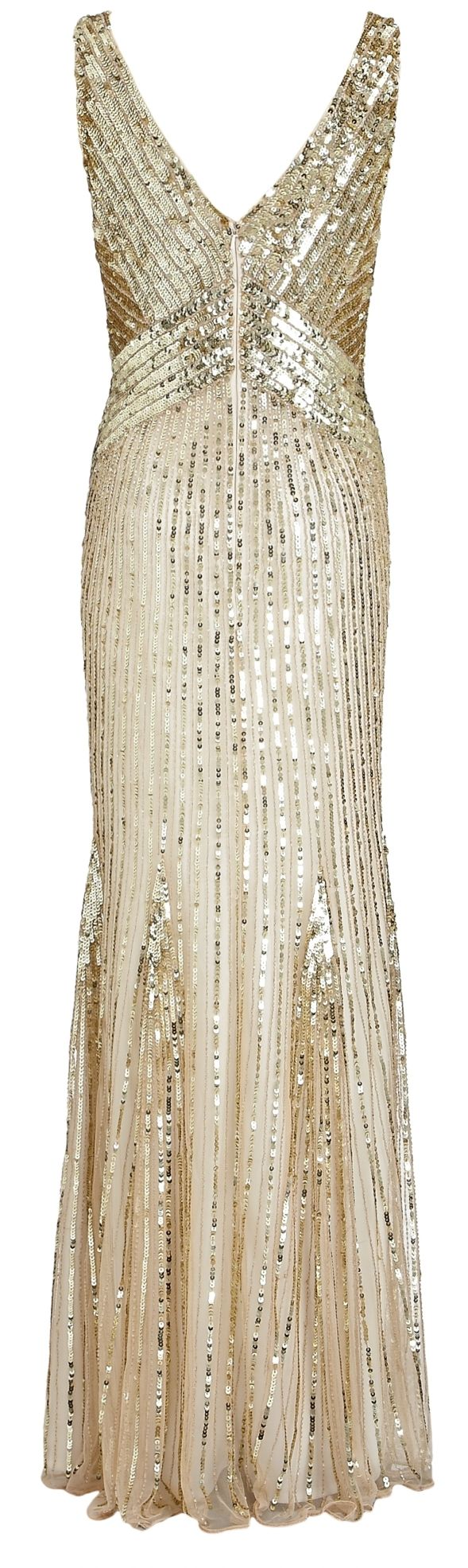 Sequin dress from  John Lewis: 1920 S, Fashion Clothing, Sequins Gowns, Gold Sequins, Sequins Dresses, Gold Bridesmaid, 1920S, John Lewis, Weddings Gowns