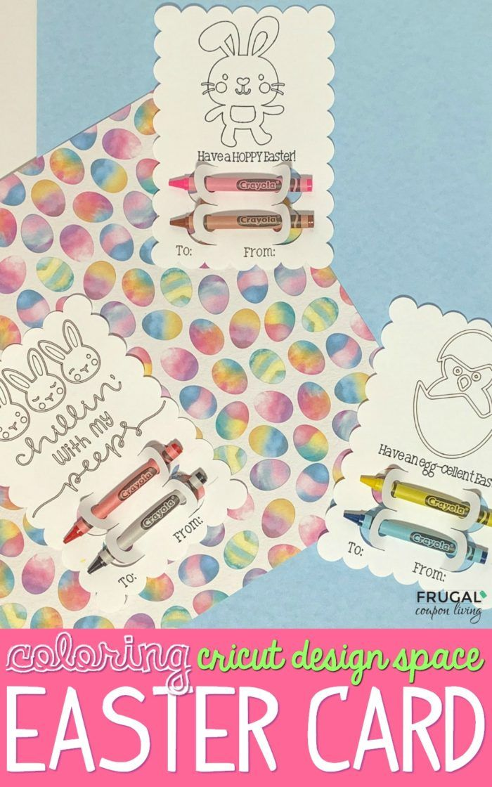 DIY Easter Card Cricut Craft Tutorial   – Cricut Coloring Cards