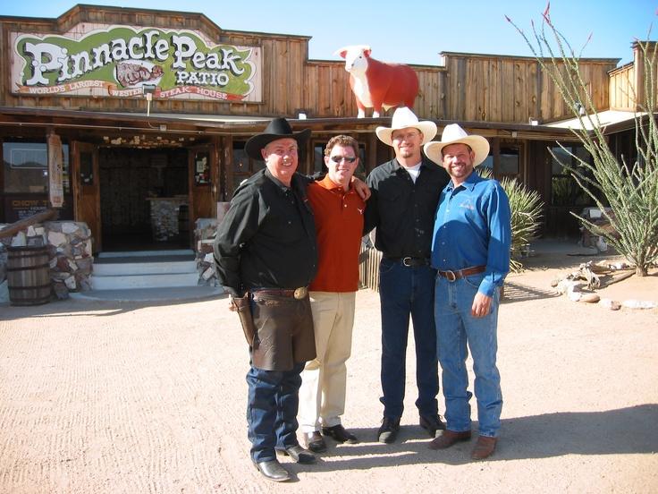 Iron Chef Bobby Flay Visiting Pinnacle Peak Patio Steakhouse. (circa 2004)  Http: