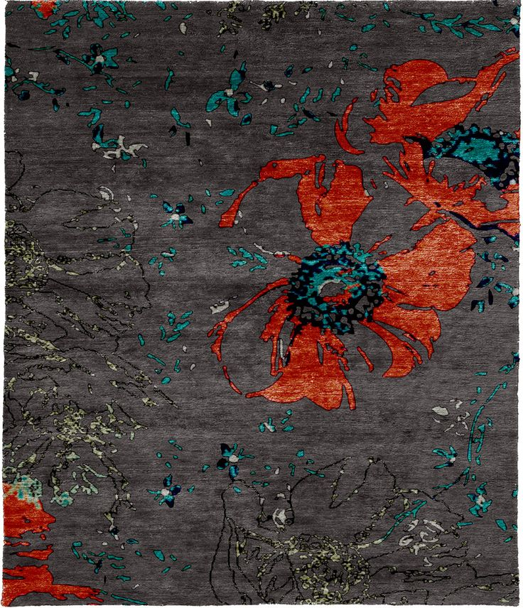 Vigezzite Hand Knotted Tibetan Rug from the Tibetan Rugs 1 collection at Modern Area Rugs