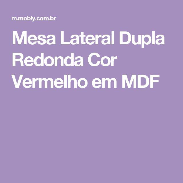 Mesa Lateral Dupla Redonda Cor Vermelho em MDF