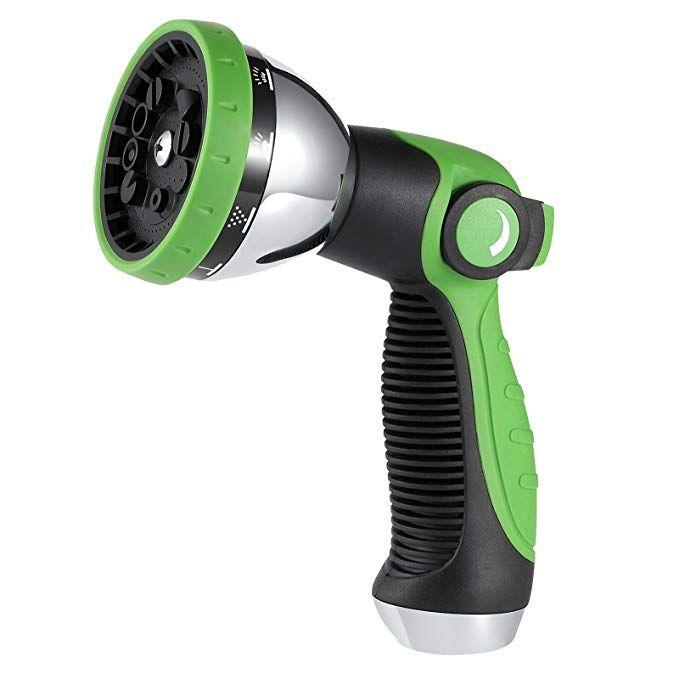 Miuo Garden Hose Nozzle 3 4 Heavy Duty Adjustable 10 Spray