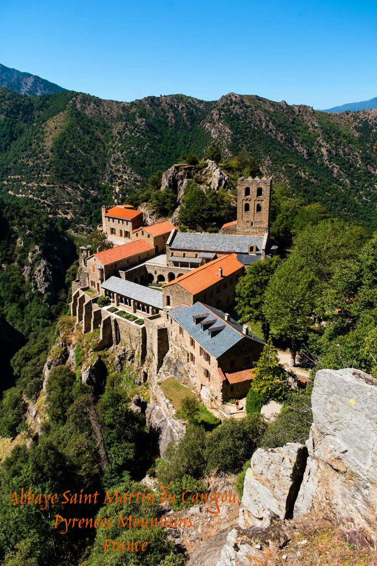 Abbaye Saint Martin du Canigou, Pyrenees Mountains, France