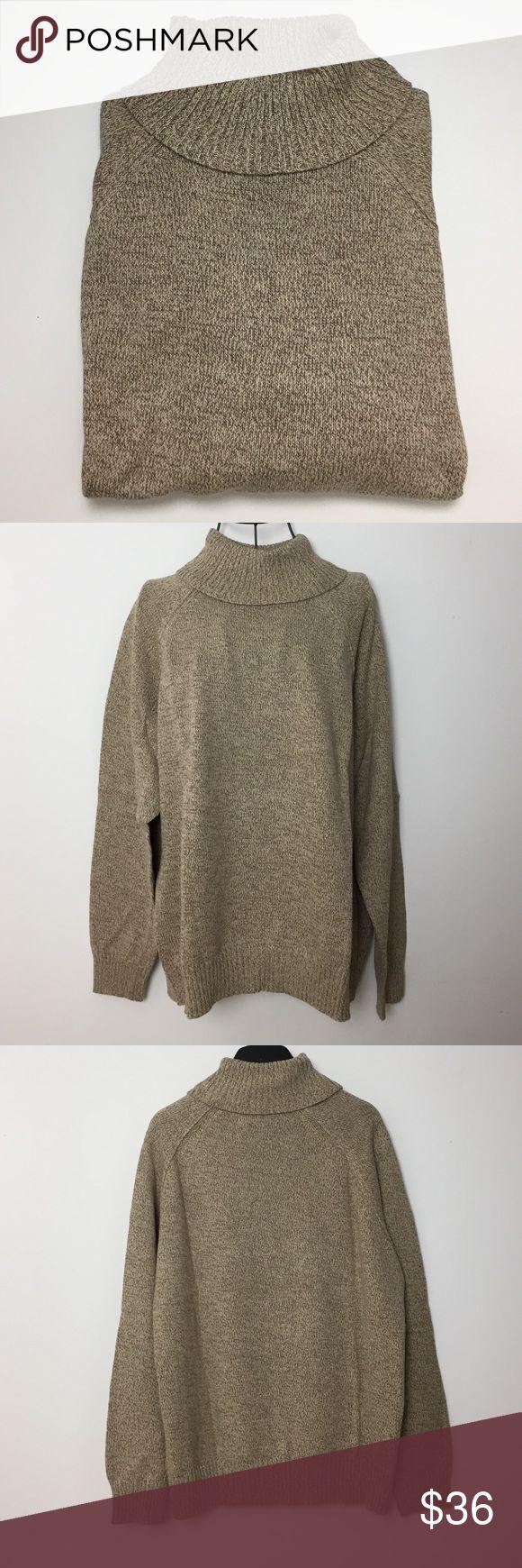 Karen Scott Marled Turtleneck Sweater Chestnut marled sweater.  Turtleneck.  Long Sleeve.  100% Cotton.  No trades. Karen Scott Sweaters Cowl & Turtlenecks