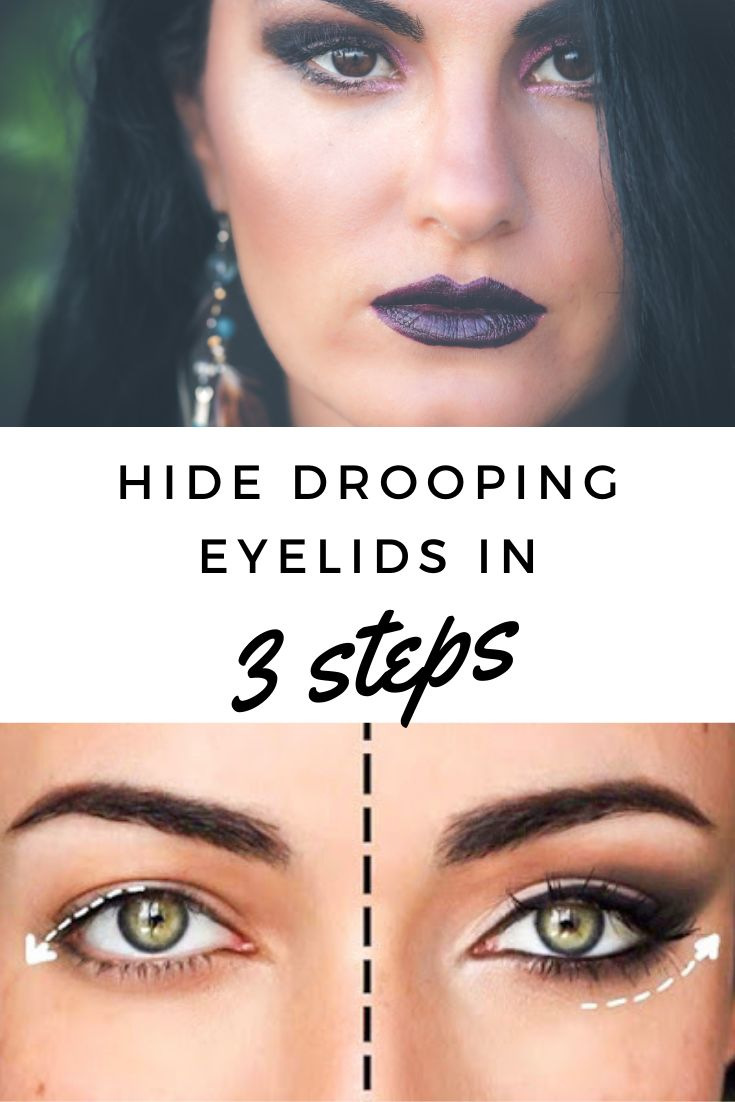Hide drooping eyelids in 3 steps with images drooping