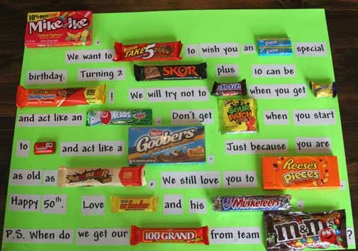 My Brothers 50th Birthday Candy Card
