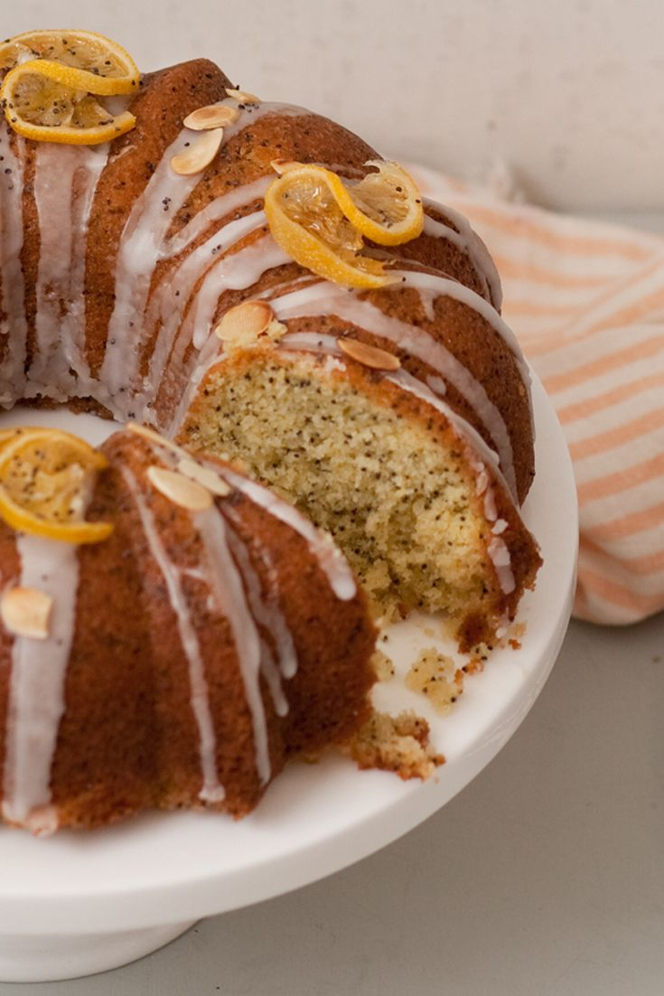 Lemon and poppy seed drizzle looks more fancy in a bundt tin. Try Jane's recipe from Great British Bake Off