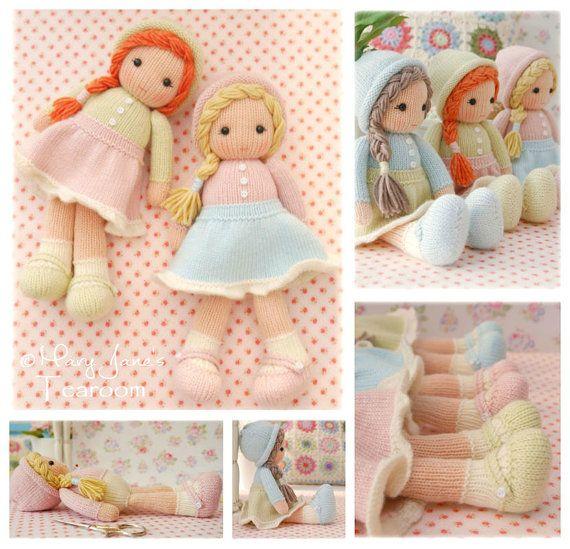 Muñequitos de hilado / PDF muñeca tejer patrón / método 1 / confitería punto muñecas / juguete tejer patrón / instante descargar