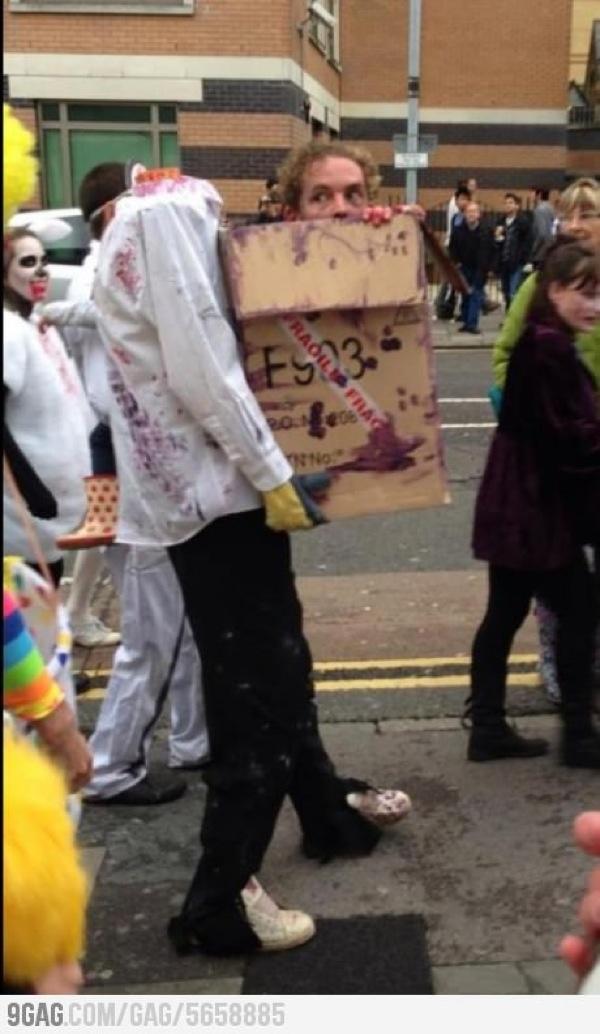 Zombie costume, so creative
