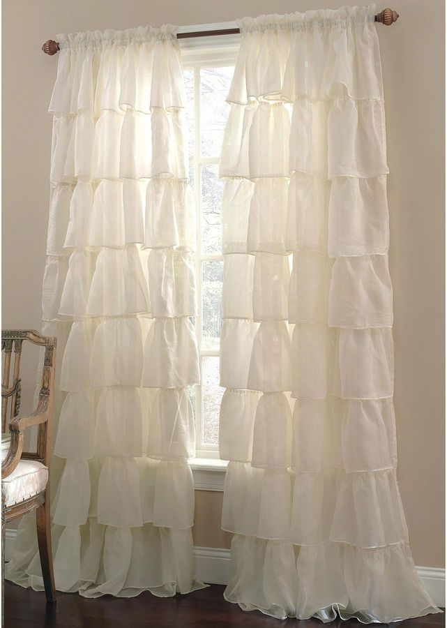 Lorraine Gypsy Ruffled Rod Pocket Sheer Panel I