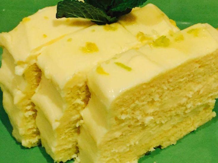 Reteta culinara Prajitura cu crema de lamaie din categoria Prajituri. Cum sa faci Prajitura cu crema de lamaie