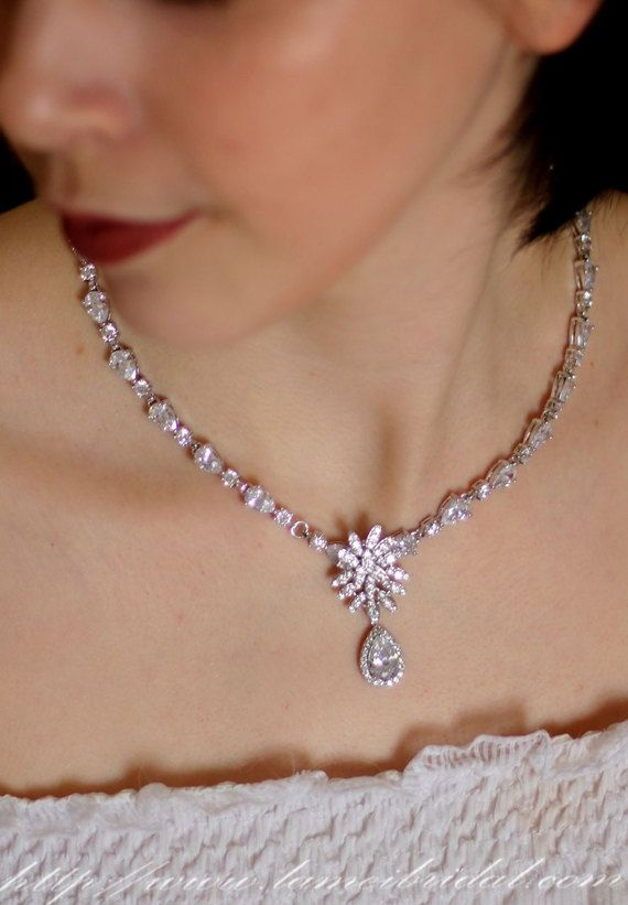 Stunning Zircon Mosaic Wedding Style Necklace for Prom by LAmei