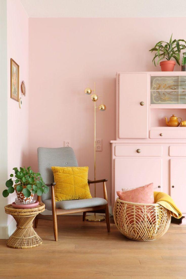 Binnenkijken bij blogger Marij Hessel - KARWEI - roze / pink / woonkamer / livingroom Fotografie: Marij Hessel