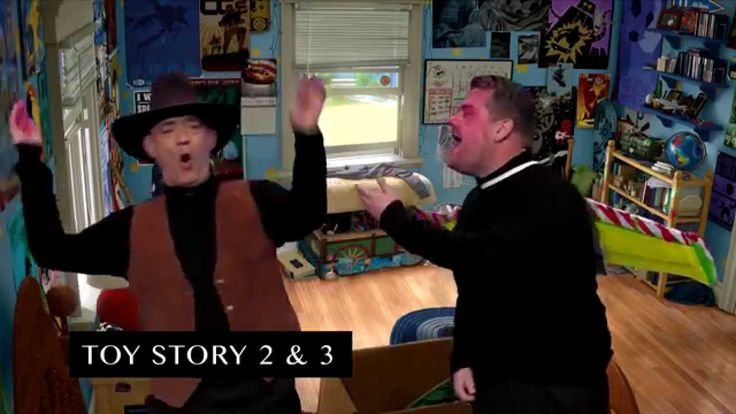 "James Corden and Tom Hanks act out snippets from Tom's illustrious film career, from Big to the Toy Story movies. Subscribe To ""The Late Late Show"" Channel H..."