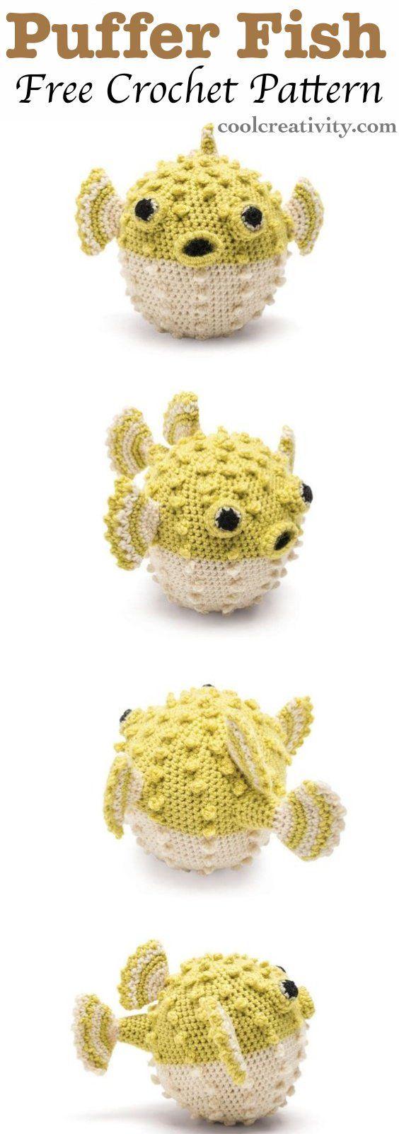 Crochet Cute Amigurumi Puffer Fish with Free Pattern