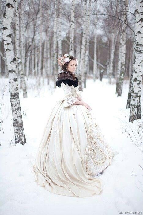 Snow queen, forest maiden, fantasy, medieval
