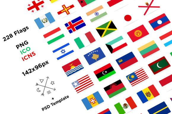 Check out 228 Flat Flags by alpercakici on Creative Market