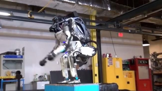 ROBOT gymnastics may well be on the cards for Tokyo 2020 because this crazy humanoid has just nailed the art of the backflip.
