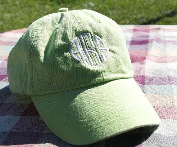 Monogrammed Ladies' Baseball Cap  Choose from 14 by graysiebugs, $20.00