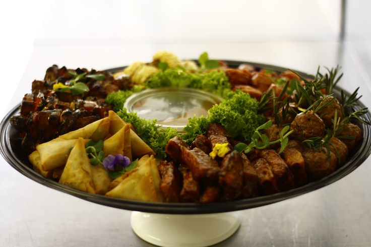 180 degrees catering and confectionery meat platter and samousa www.180degrees.co.za