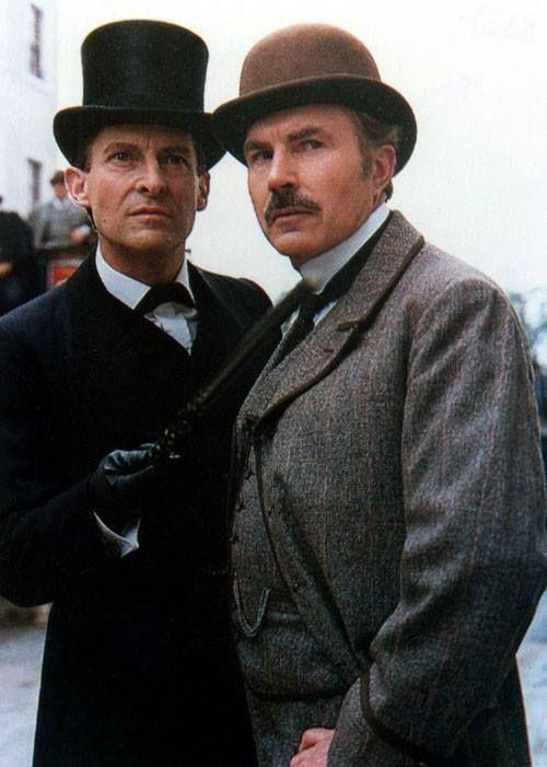 Jeremy Brett's Sherlock Holmes and David Burke's Doctor Watson