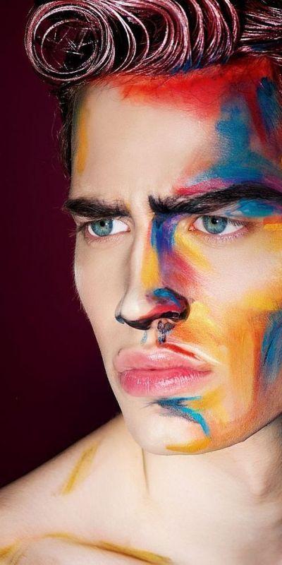 Avantgarde men Make Up